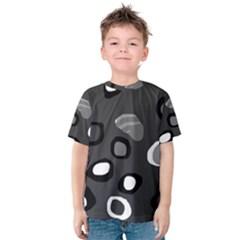 Gray abstract pattern Kid s Cotton Tee