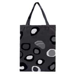 Gray abstract pattern Classic Tote Bag