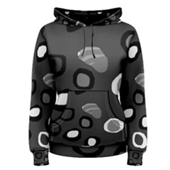 Gray abstract pattern Women s Pullover Hoodie