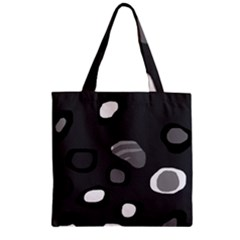 Gray abstract pattern Zipper Grocery Tote Bag