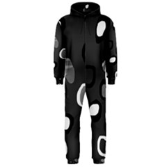 Gray abstract pattern Hooded Jumpsuit (Men)