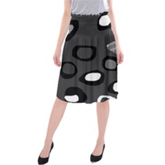 Gray abstract pattern Midi Beach Skirt
