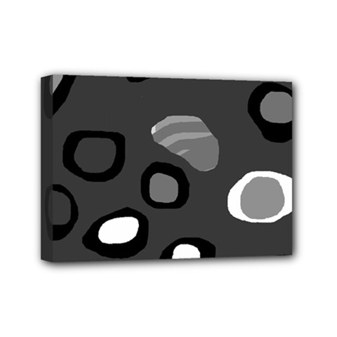 Gray abstract pattern Mini Canvas 7  x 5
