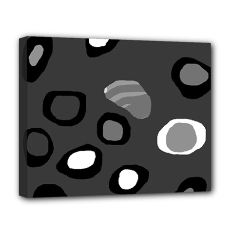 Gray abstract pattern Deluxe Canvas 20  x 16