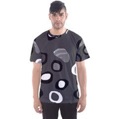 Gray abstract pattern Men s Sport Mesh Tee