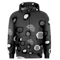 Gray abstract pattern Men s Zipper Hoodie