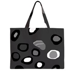 Gray abstract pattern Large Tote Bag
