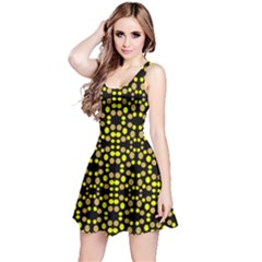 Dots Pattern Yellow Reversible Sleeveless Dress
