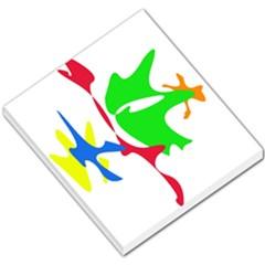 Colorful amoeba abstraction Small Memo Pads