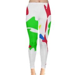 Colorful amoeba abstraction Leggings