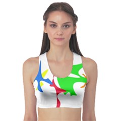 Colorful amoeba abstraction Sports Bra