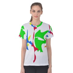 Colorful amoeba abstraction Women s Cotton Tee