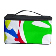 Colorful amoeba abstraction Cosmetic Storage Case