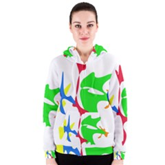 Colorful amoeba abstraction Women s Zipper Hoodie