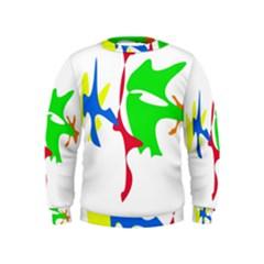 Colorful amoeba abstraction Kids  Sweatshirt