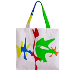 Colorful amoeba abstraction Zipper Grocery Tote Bag
