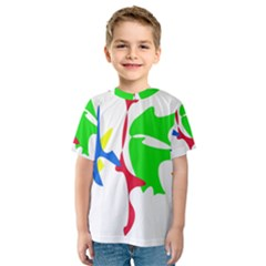 Colorful amoeba abstraction Kid s Sport Mesh Tee