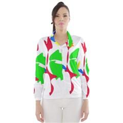 Colorful amoeba abstraction Wind Breaker (Women)