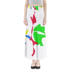 Colorful amoeba abstraction Maxi Skirts