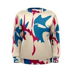 Decorative amoeba abstraction Women s Sweatshirt