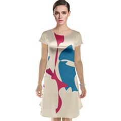 Decorative amoeba abstraction Cap Sleeve Nightdress