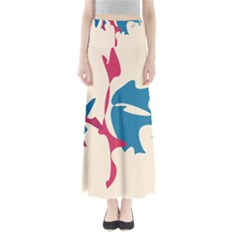 Decorative amoeba abstraction Maxi Skirts
