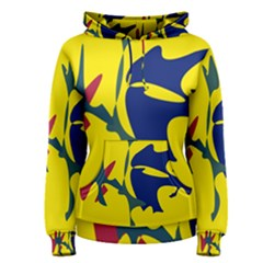 Yellow amoeba abstraction Women s Pullover Hoodie