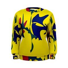 Yellow amoeba abstraction Women s Sweatshirt