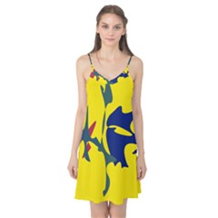 Yellow amoeba abstraction Camis Nightgown