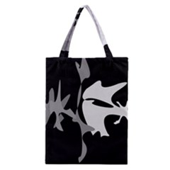 Black and white amoeba abstraction Classic Tote Bag