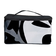 Black and white amoeba abstraction Cosmetic Storage Case