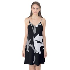 Black and white amoeba abstraction Camis Nightgown