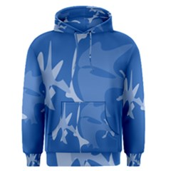 Blue Amoeba Abstraction Men s Pullover Hoodie