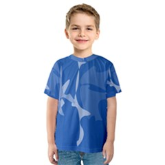 Blue amoeba abstraction Kid s Sport Mesh Tee