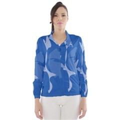 Blue amoeba abstraction Wind Breaker (Women)