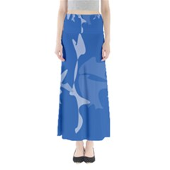 Blue Amoeba Abstraction Maxi Skirts