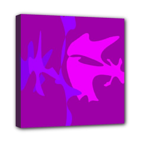 Purple, pink and magenta amoeba abstraction Mini Canvas 8  x 8
