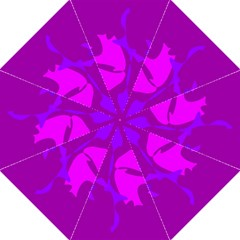 Purple, pink and magenta amoeba abstraction Hook Handle Umbrellas (Large)