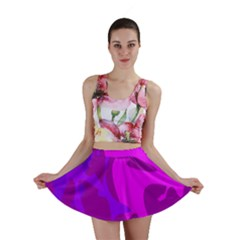 Purple, pink and magenta amoeba abstraction Mini Skirt