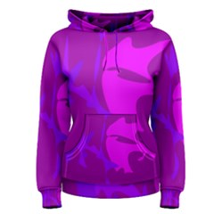 Purple, pink and magenta amoeba abstraction Women s Pullover Hoodie