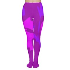 Purple, pink and magenta amoeba abstraction Women s Tights