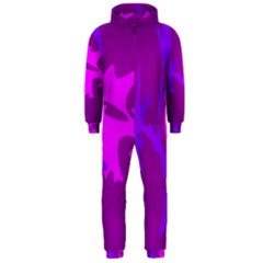 Purple, pink and magenta amoeba abstraction Hooded Jumpsuit (Men)