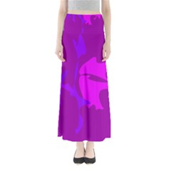 Purple, pink and magenta amoeba abstraction Maxi Skirts