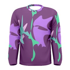 Purple amoeba abstraction Men s Long Sleeve Tee