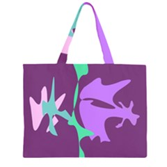Purple amoeba abstraction Large Tote Bag