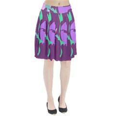 Purple Amoeba Abstraction Pleated Skirt