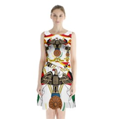 Coat of Arms of Jordan Sleeveless Waist Tie Dress