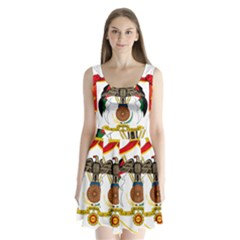 Coat of Arms of Jordan Split Back Mini Dress