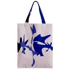 Blue amoeba abstract Zipper Classic Tote Bag