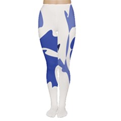 Blue amoeba abstract Women s Tights